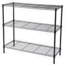 3-Tier Heavy Duty Adjustable Shelving Unit Black