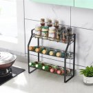 Black Three Tier Kitchen Seasoning Storage Rack