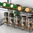 Black Four Tier Kitchen Seasoning Storage Rack