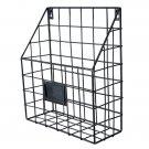 Metal Mesh Wire Shelf File Holder Office Storage (Black)