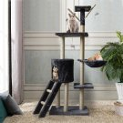 Cat Tower Kittens Pet Play House Cat Activity Tree Condo Scratching Sisal Post