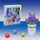 Hippo Basketball Hoop Bathtub Shooting Game Toddler Bath Toys Set