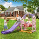 Toddler Mountaineering And Swing Set, Suitable For Indoor And Backyard Baskets