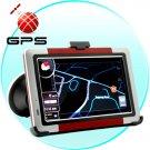 5 Inch GPS Navigation System FM Transmitter A/V Input Bluetooth MAP + 2GB MicroSD