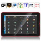 10.2 Inch LCD Touch Screen WIFI Telechips ARM11 800MHZ CPU Android 2.1 Tablet PC - Red