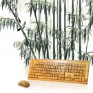 Wireless Bamboo Keyboard With 108 Keys + Mouse + USB Dongle Kit - WT3Q108