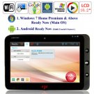 Android 2.2 Window 7 Intel Pineview N455  HDD WIFI 3G Bluetooth Camera 10.1-inch Tablet PC
