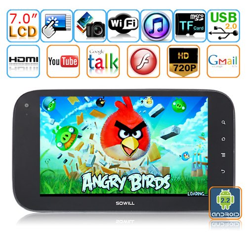 Android 2.2(Froyo) 7-inch Capacitive Touch Screen Tablet PC - SOWILL OiOi S7