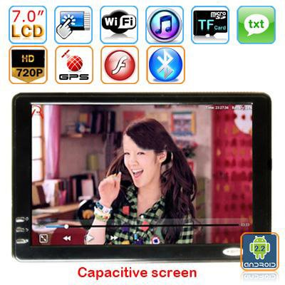 Android 2.2  7-inch Capacitive Touch Screen Tablet PC - WEIZHI A81