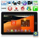 Android 2.2 WIFI Built-in 3G GPS 10-inch Capacitive Touch Screen Tablet PC - Flying touch 4