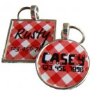 Red Picnic Plaid Custom Graphic Pet ID Tag