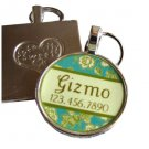 Mint Garden Rose  Pet ID Tag