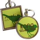 Green Bird Pet ID Tag