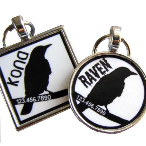 Black Bird Pet ID Tag