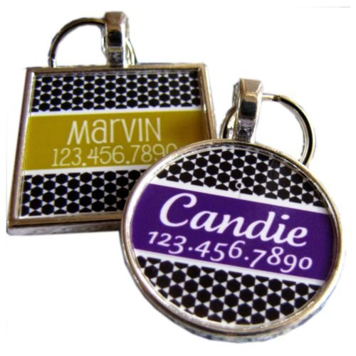 Modern Moroccan Graphic Pet ID Tag