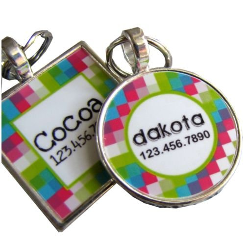 Pixels Custom Graphic Pet ID Tag
