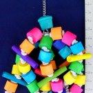 LARGE FUNDANGLE! WOOD CHEW FUN! bird toy parrot toys
