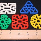 20 PLASTIC WAFFLE SHAPES  bird toys parrot toy parts