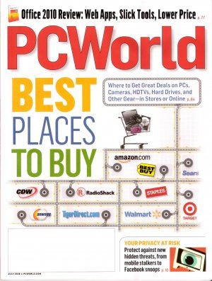 Best Places to Buy, In Stores or Online 2010 PC World July