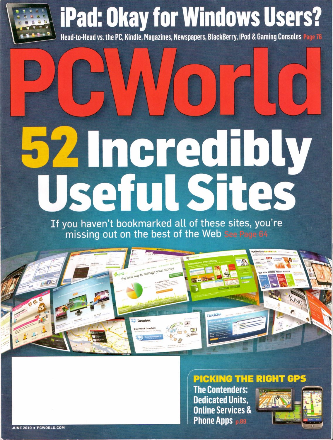 Fifty Two Best of the Web Sites 2010 PC World June