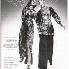 Gene Berk for Paganne Vintage Black and White Print Ad 1972 Vogue Magazine