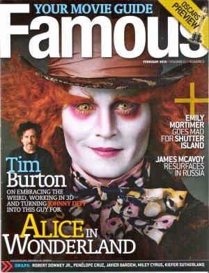 Johnny Depp Famous February 2010 Volume 11 Number 2