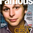 Michael Cera Famous January 2010 Volume 11 Number 1