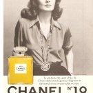 Print Ad 1975 Chanel No 19 feat Princess Mara Ruspoli Vintage Glamour Magazine