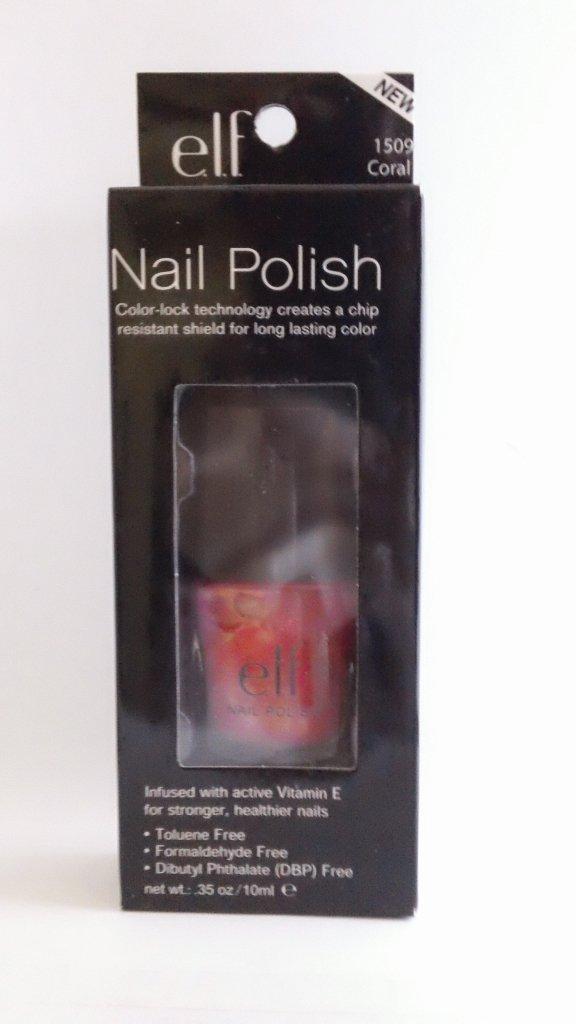 ELF Essential Nail Color Polish #1509 Coral e.l.f. lacquer