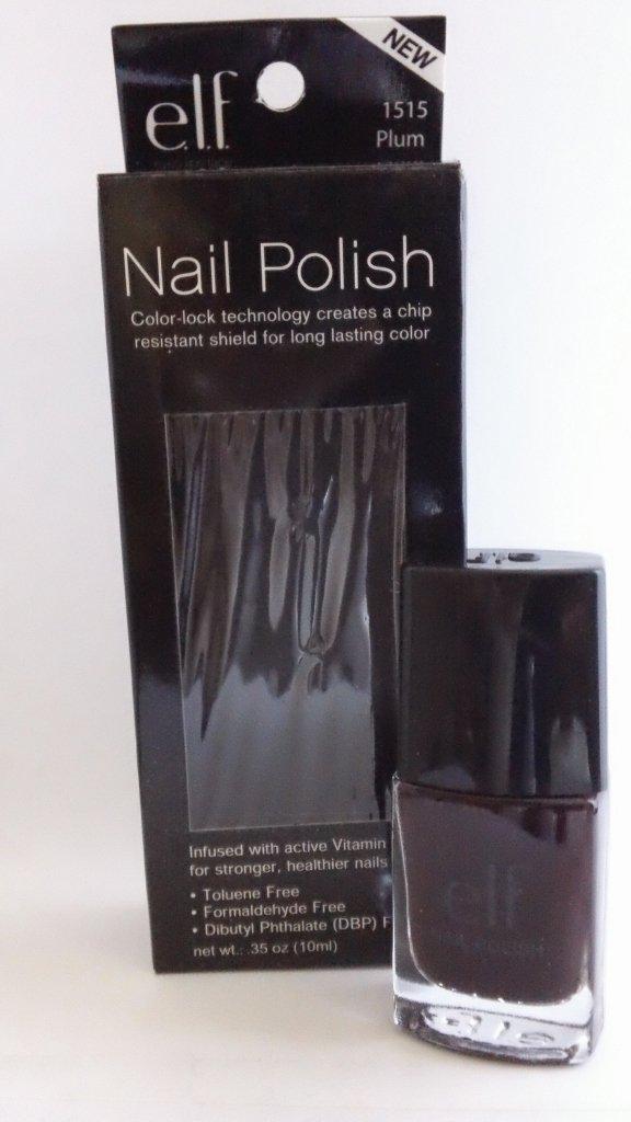 ELF Essential Nail Color Polish #1515 Plum e.l.f. lacquer discontinued