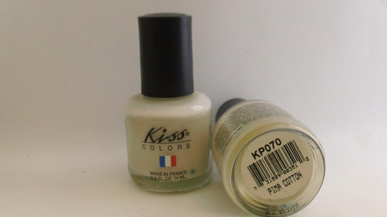 Kiss Colors Nail Polish KP070 Pima Cotton lacquer color white cream