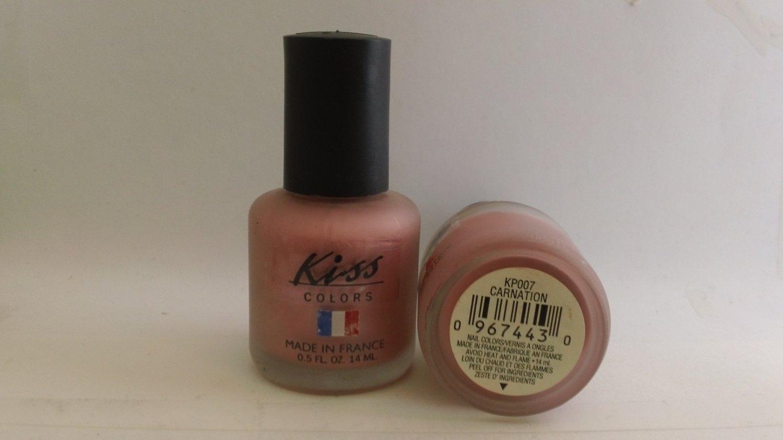 Kiss Colors Nail Polish KP007 Carnation lacquer color Pink