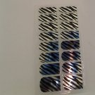 Modicure Nail Foil Wraps Polish Strips Seals Serengeti silver zebra stripes