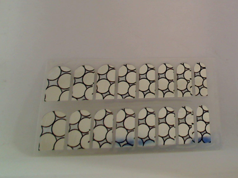 Modicure Nail Foil Wraps Polish Strips Seals Bubbles silver mirror