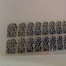 Modicure Nail Foil Wraps Polish Strips Seals Island B white silver leopard print mirror