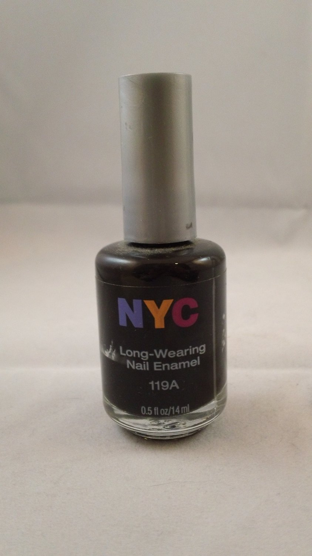 NYC New York Color Long Wearing Nail Enamel Lacquer Polish #119A Black Lace Creme