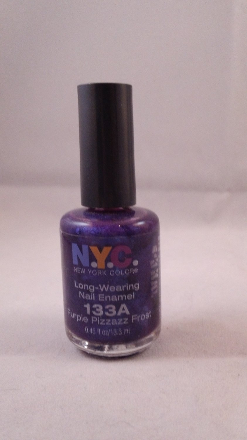 NYC New York Color Long Wearing Nail Enamel Lacquer Polish #133A Purple Pizzazz Frost