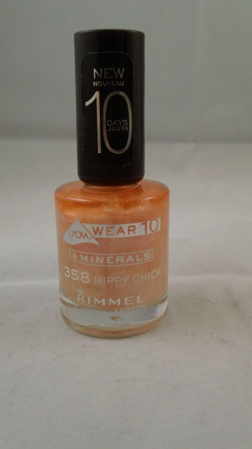Rimmel London Lycra Wear 10 Day Mineral Nail Color Polish #358 Hippy Chick lacquer