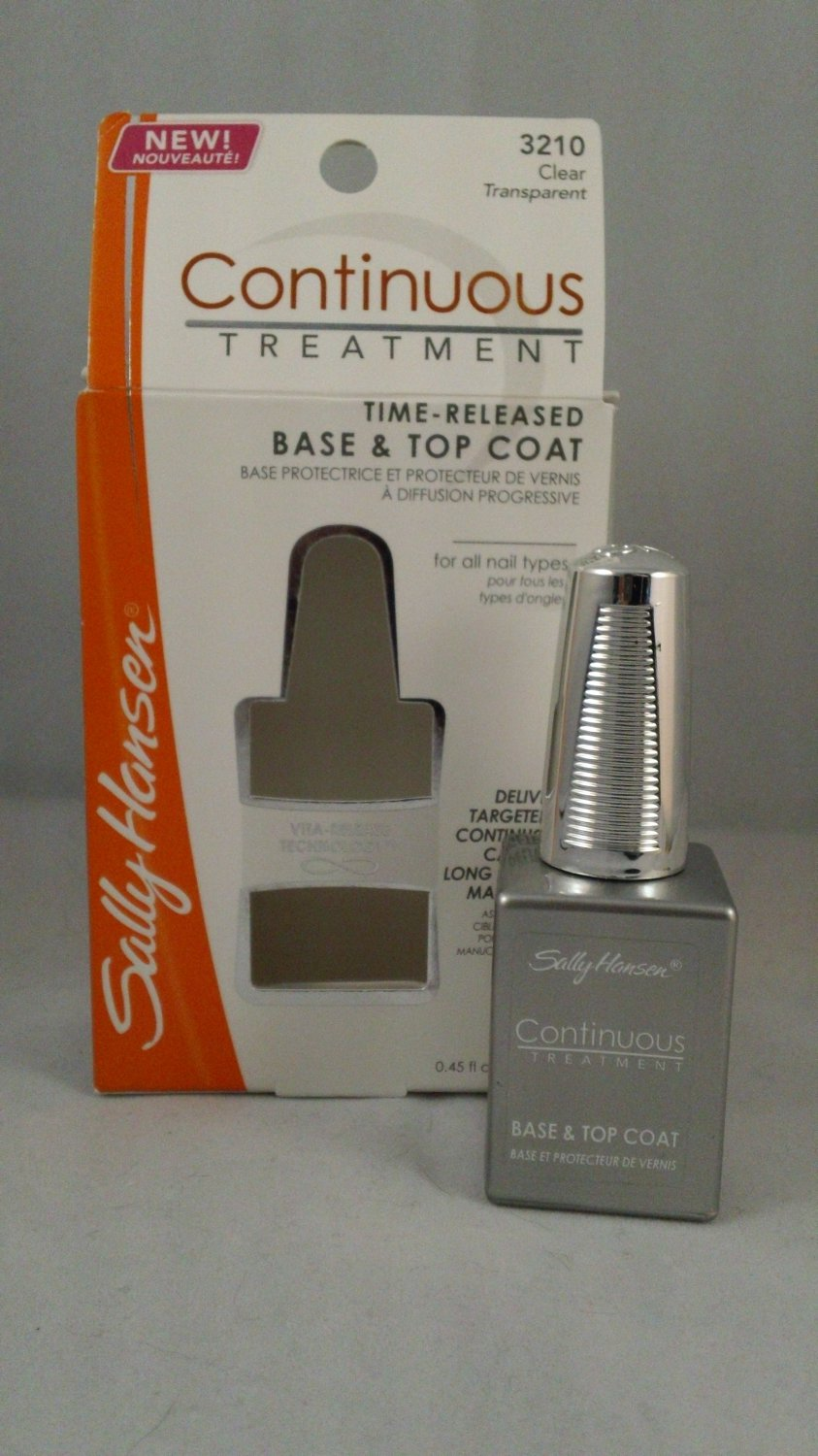 Sally Hansen Continuous Treatment Time Released Base and Top Coat Formula Nail lacquer polish Clear