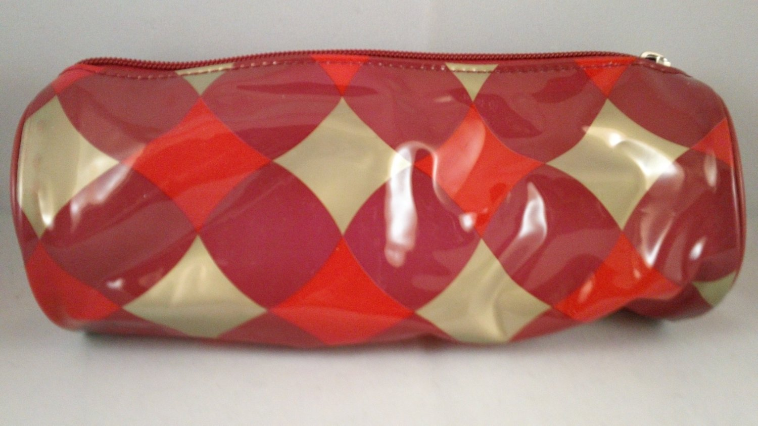 Ulta Makeup Bag Cosmetic clutch purse pouch holiday red gold