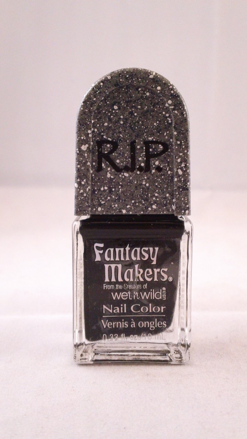 Wet n Wild Fantasy Makers Nail Color Polish #11138 Black Pearl Limited Edition Halloween