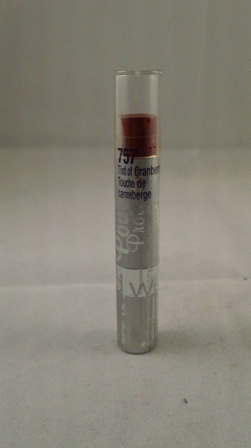 Wet n Wild Pout Protector Tinted Lip Balm Lipstick #757 Tint of Cranberry protection