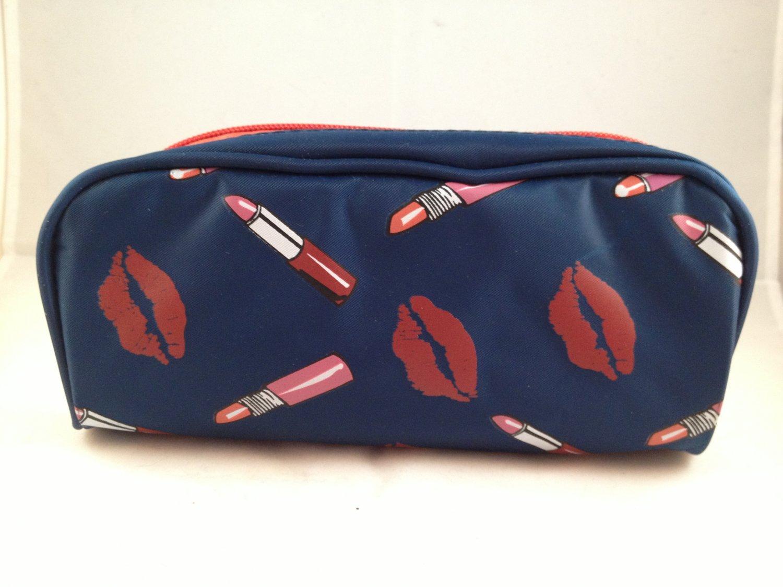 Hautelook Lips Themed Makeup Bag cosmetic case zippered clutch beauty