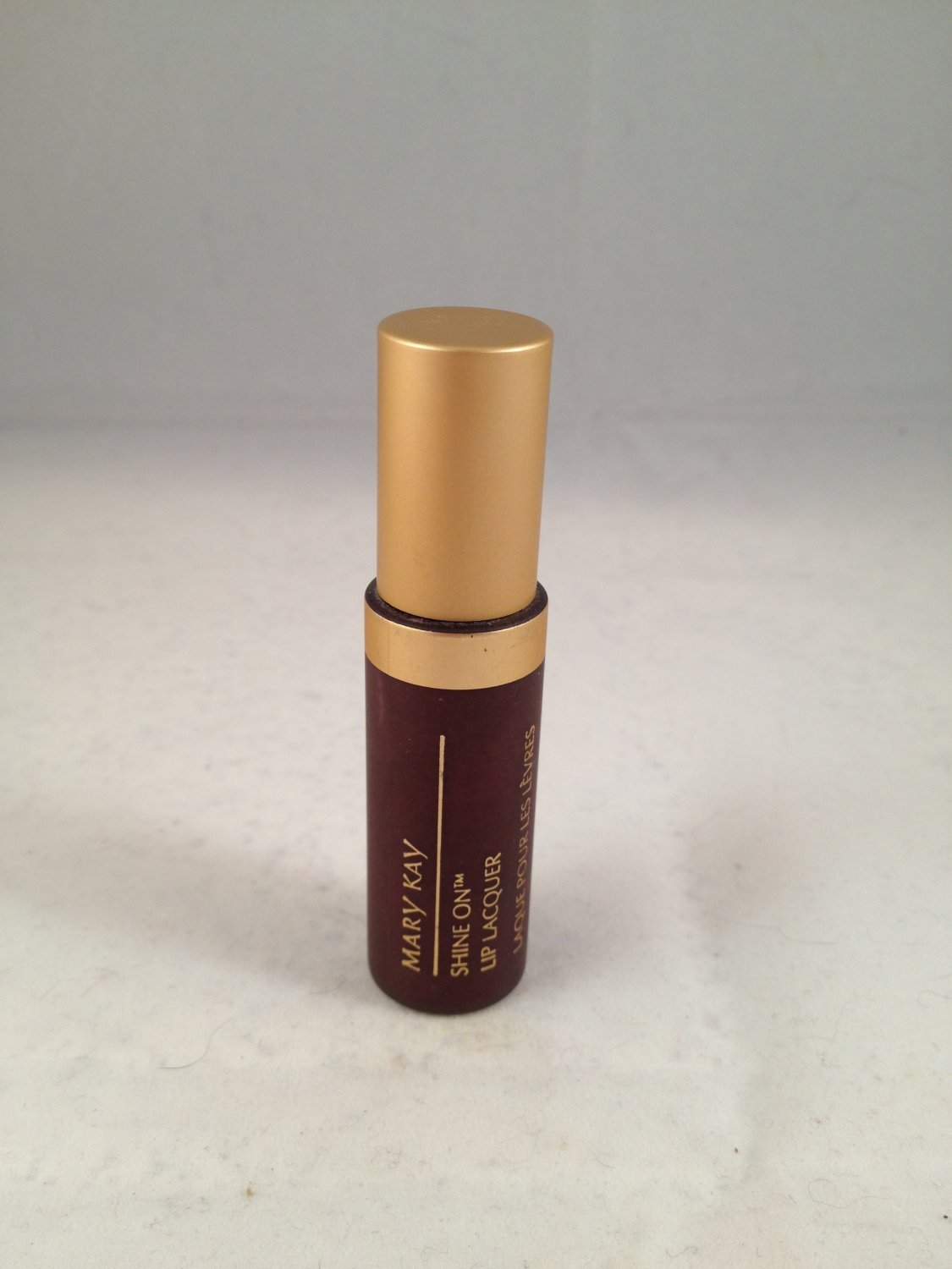 Mary Kay Shine On Lip Lacquer Plum Shimmer Color Gloss liquid lipstick