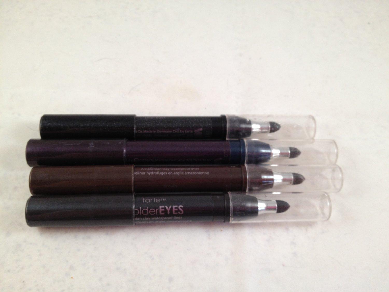 Lot of 4 Tarte SmolderEyes Waterproof Amazonian Clay liner eyeliner with sharpener