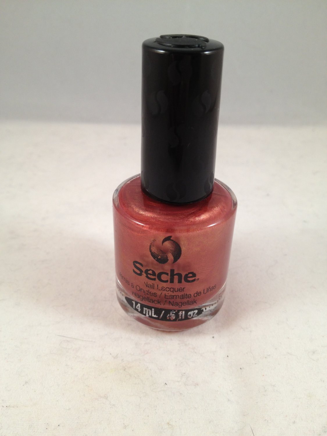 Seche Nail Lacquer Elegant color polish bronze shimmer