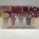 The New Black Foiled Again Random Cut Gold Leaf Polish nail set lacquer color