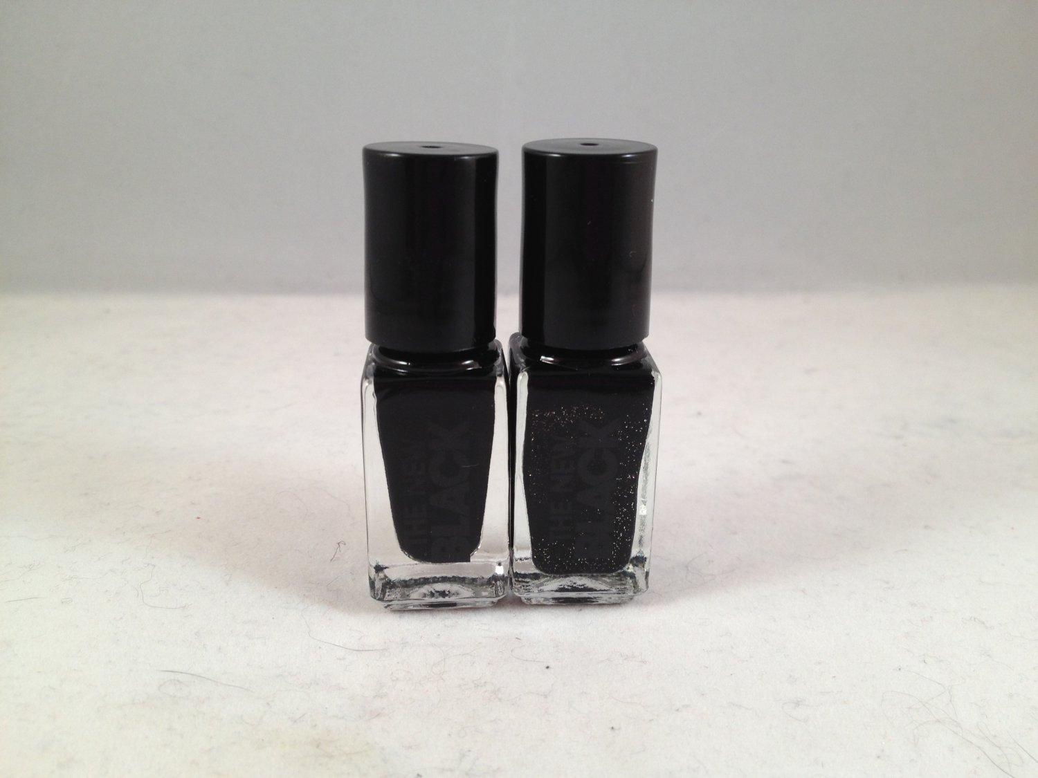 The New Black Glimmer Twins 2-Piece Nail Lacquer Set Black Ice polish color