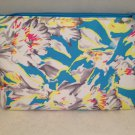 Ipsy MyGlam Glam Bag Floral Fantasy March 2015 Blue White Yellow Pattern Cosmetic clutch empty