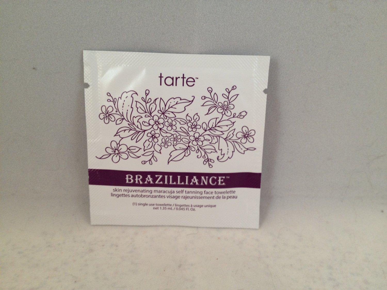 1 Tarte Brazilliance Skin Rejuvenating Maracuja Self Tanning Face Towelette